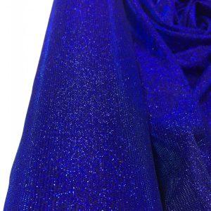Lurex albastru-royal indigo cu sclipici