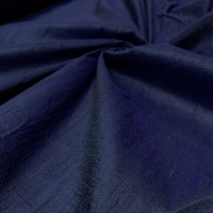 Shantung de matase naturala bleumarin