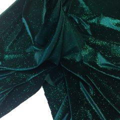 Catifea elastica verde-marin cu sclipici
