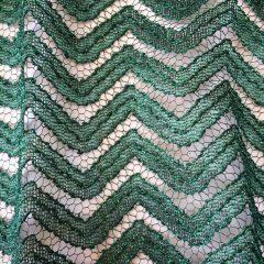 Dantela verde cu sclipici