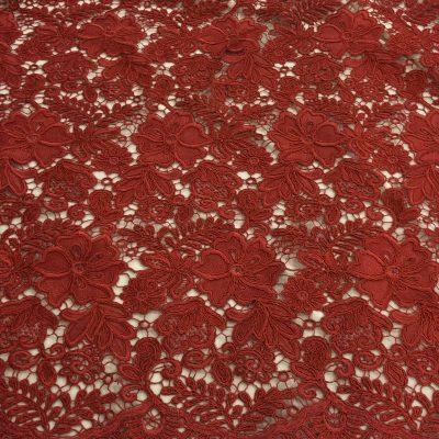Broderie macrame rosu-terracotta
