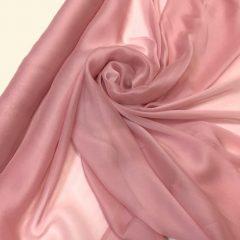Voal chiffon de matase naturala roz prafuit