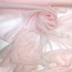 Voal chiffon de matase naturala roz pastel