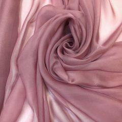 Voal chiffon de matase naturala roz-prafuit