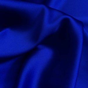 Satin de matase naturala cu elastan albastru-royal