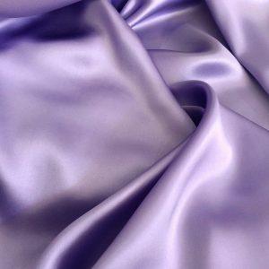 Satin de matase naturala cu elastan lavanda