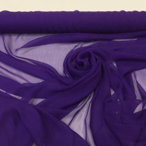 Voal georgette de matase naturala violet-indigo