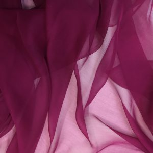 Voal creponat de matase naturala (muselina) burgundy inchis