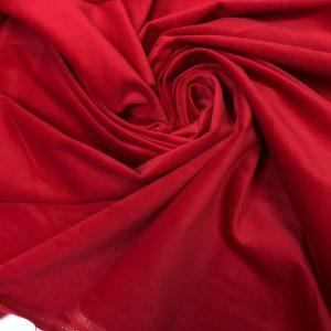 Catifea de bumbac rosu intens