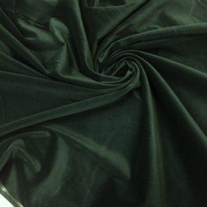 Catifea de bumbac verde-inchis