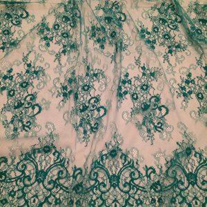 Dantela tip Chantilly verde