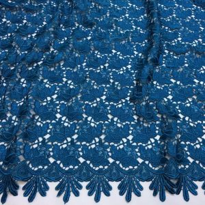 Broderie tip macrame albastru marin