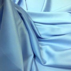 Satin gros elastic bleu