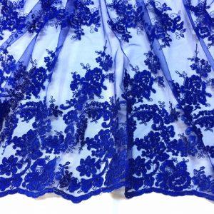 Broderie albastru-intens cu bordura dubla