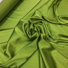 Satin de matase naturala cu elastan verde-lime