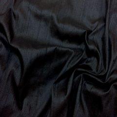 Shantung de matase naturala negru