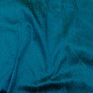 Shantung de matase naturala turcoaz-inchis