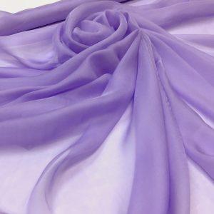 Voal chiffon de matase naturala lila-pastel