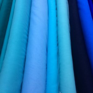 Tulle elastic nuante verde-turcoaz-albastru