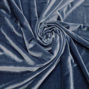 Catifea elastica gri-bleu