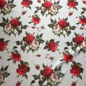 Tafta Duchesse imprimeu flori
