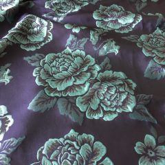 Tafta bleumarin flori aqua