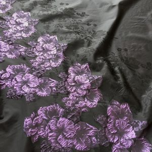 Tafta panou flori roz-lila