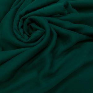 Voal creponat de matase naturala (muselina) verde-inchis