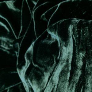 Catifea de matase naturala verde-inchis