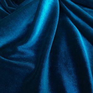 Catifea elastica albastru-turcoaz