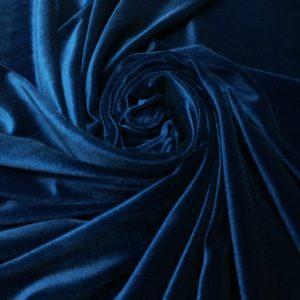 Catifea elastica albastru-marin