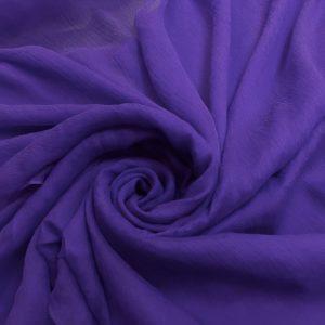 Voal creponat de matase naturala (muselina) lila intens