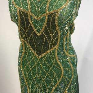 Panou tip rochie verde auriu