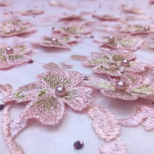 Broderie 3D roz