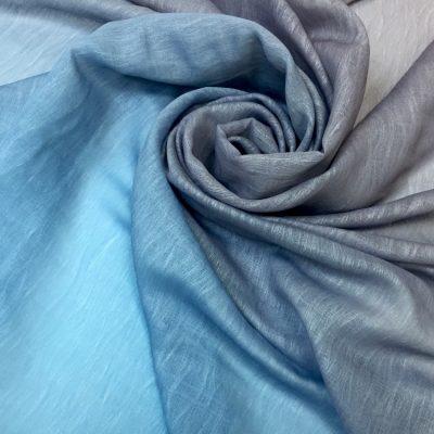 Organza cu fire degrade bleu-gri-lila