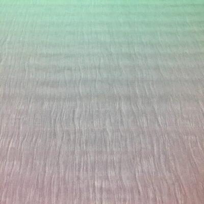 Organza cu fire lila fumuriu-verde aqua