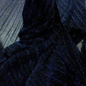 Lurex plisat negru-albastru