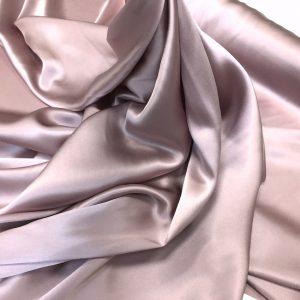 Satin de matase naturala fara elastan roz-prafuit