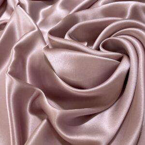 Satin de matase naturala fara elastan roz-lila prafuit