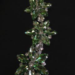 Accesoriu argintiu pietre verde-pastel