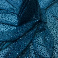 Voal albastru-marin inchis cu sclipici