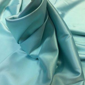 Satin gros elastic bleu-aqua