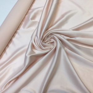 Satin gros elastic roz pastel