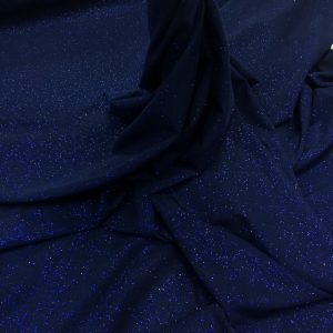 Lycra bleumarin cu sclipici