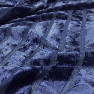 Catifea elastica lila cu dungi