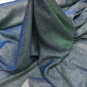 Lurex argintiu cu irizatii bleu-verde si sclipici