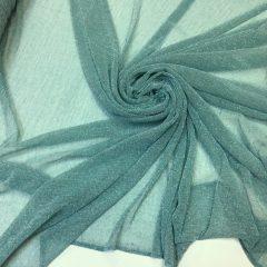 Lurex plisat verde-aqua cu fir lame argintiu