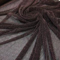 Lurex plisat negru cu fir lame roz-prafuit