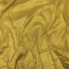 Shantung de matase naturala galben-ocru