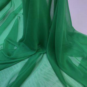 Voal chiffon de matase naturala verde-smarald